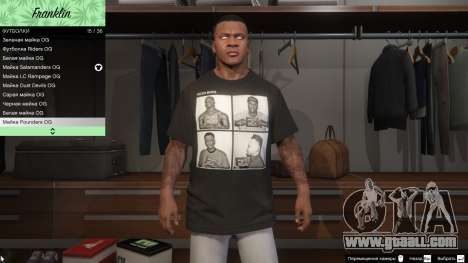 Franklin Hip Hop T-Shirts for GTA 5
