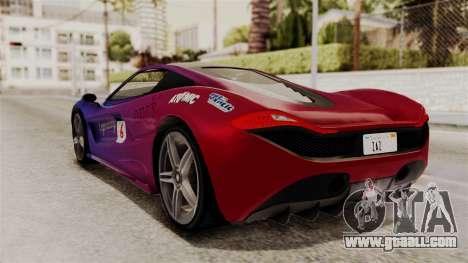GTA 5 Progen T20 SA Style for GTA San Andreas inner view