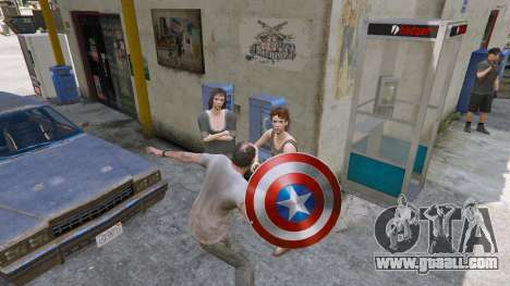 GTA 5 Shield Captain America third screenshot