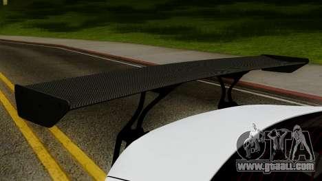 Subaru BRZ 2010 Rocket Bunny v1 for GTA San Andreas back view