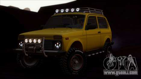 VAZ 2121 Niva Offroad for GTA San Andreas back view