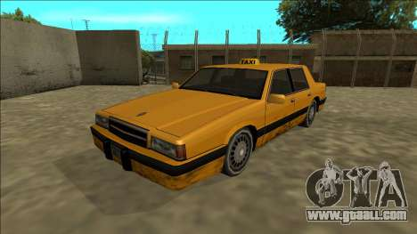 Willard Taxi for GTA San Andreas back left view
