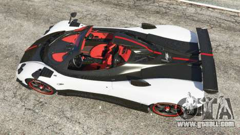 GTA 5 Pagani Zonda Cinque Roadster back view