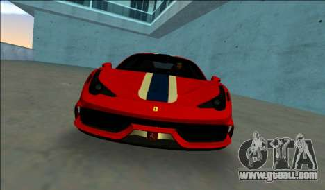 Ferrari 458 Speciale for GTA Vice City