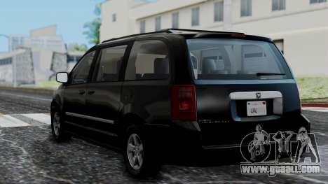 Dodge Grand Caravan 2010 for GTA San Andreas left view