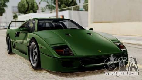 Ferrari F40 1987 with Up without Bonnet IVF for GTA San Andreas
