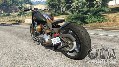 GTA 5 Harley-Davidson Fat Boy Lo Racing Bobber v1.1 rear left side view