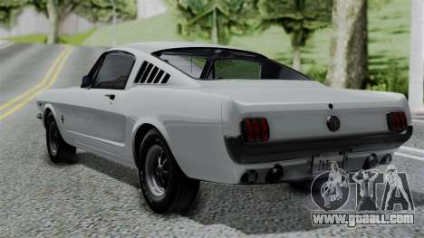 Ford Mustang Fastback 289 1966 for GTA San Andreas left view
