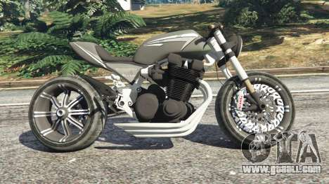 GTA 5 Honda CB 1800 Cafe Racer with Stickers left side view