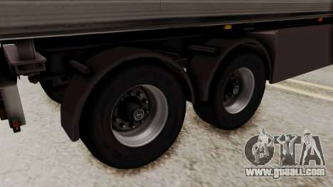 Cooliner Trailer from ETS 2 for GTA San Andreas back left view