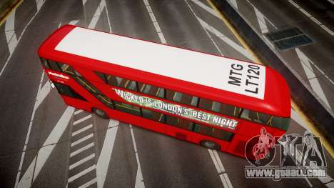 Wrightbus New Routemaster Metroline for GTA 4 right view
