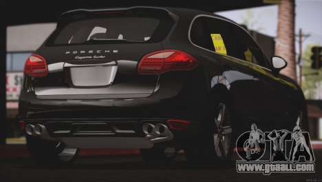 Porsche Cayenne Turbo 2012 for GTA San Andreas back view