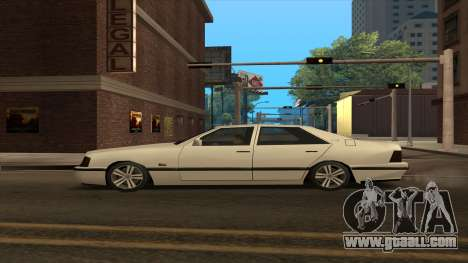 Mercedes Benz W140 S600 for GTA San Andreas left view