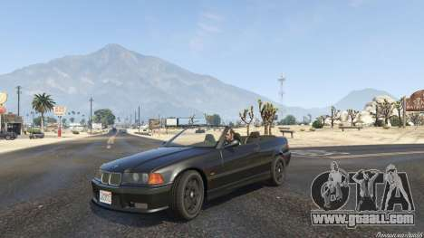 GTA 5 BMW M3 E36 Cabriolet 1997 right side view