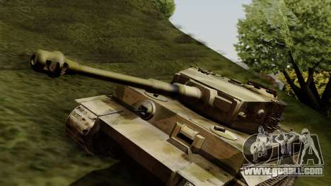 Panzerkampfwagen VI Ausf. E Tiger for GTA San Andreas right view