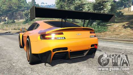 GTA 5 Aston Martin Vantage GT3 rear left side view