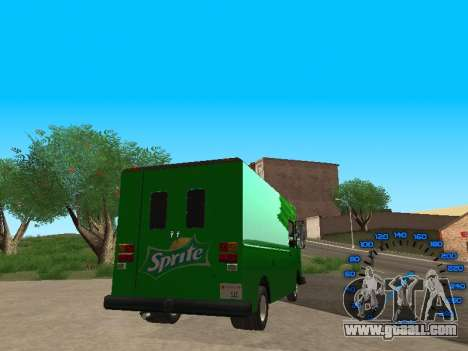 Boxville Sprite for GTA San Andreas back left view