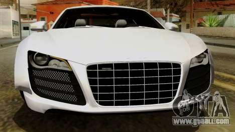 Audi R8 v1.0 Edition Liberty Walk for GTA San Andreas bottom view