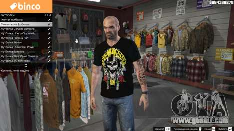 Trevor Guns and Roses Top Hat Shirt for GTA 5