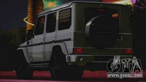 Mercedes Benz G65 AMG 2015 Topcar Tuning for GTA San Andreas back left view