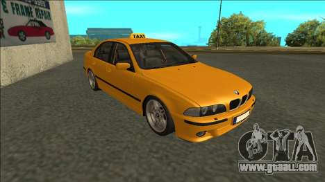 1999 BMW 530d E39 Taxi for GTA San Andreas left view