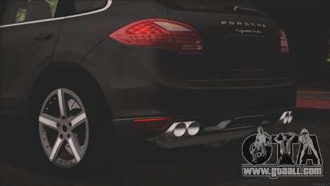 Porsche Cayenne Turbo 2012 for GTA San Andreas upper view
