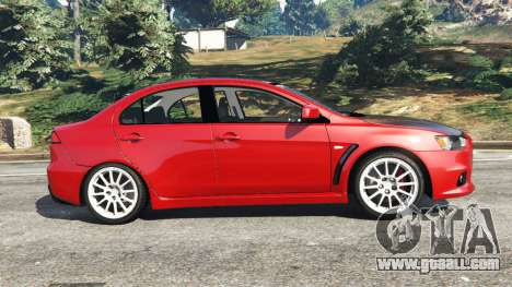 GTA 5 Mitsubishi Lancer Evolution X left side view