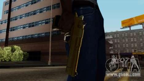 Golden Desert Eagle for GTA San Andreas third screenshot
