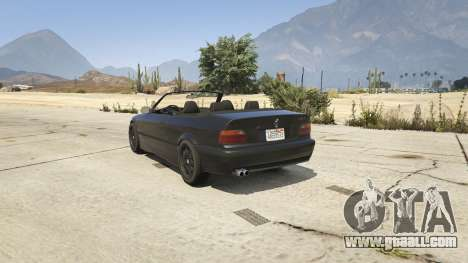 GTA 5 BMW M3 E36 Cabriolet 1997 rear left side view