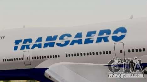 Boeing 747 TransAero for GTA San Andreas back view