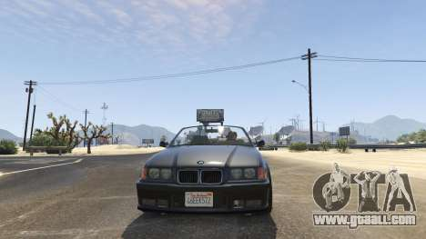 GTA 5 BMW M3 E36 Cabriolet 1997 rear right side view