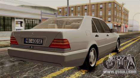 Mercedes-Benz W140 400SE 1992 for GTA San Andreas left view