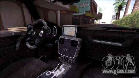 Mercedes Benz G65 AMG 2015 Topcar Tuning for GTA San Andreas interior