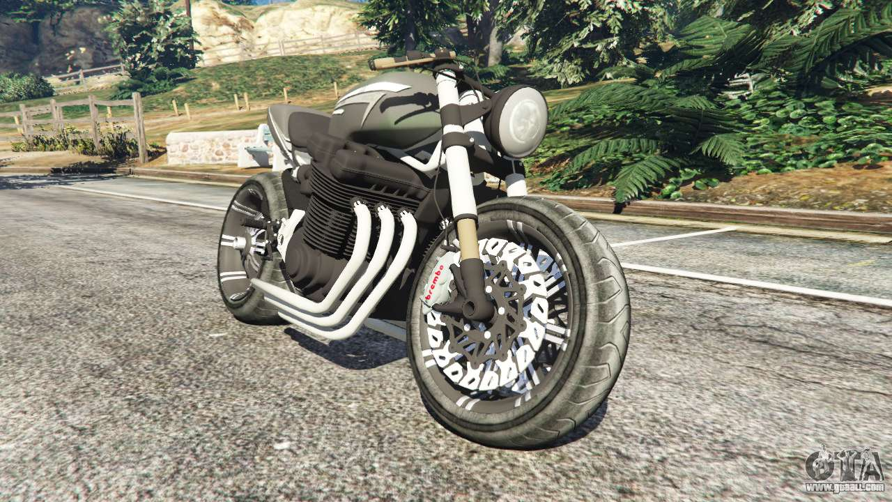 68085 Honda Cb 1800 Cafe Racer With Stickers on gta 5 oppressor
