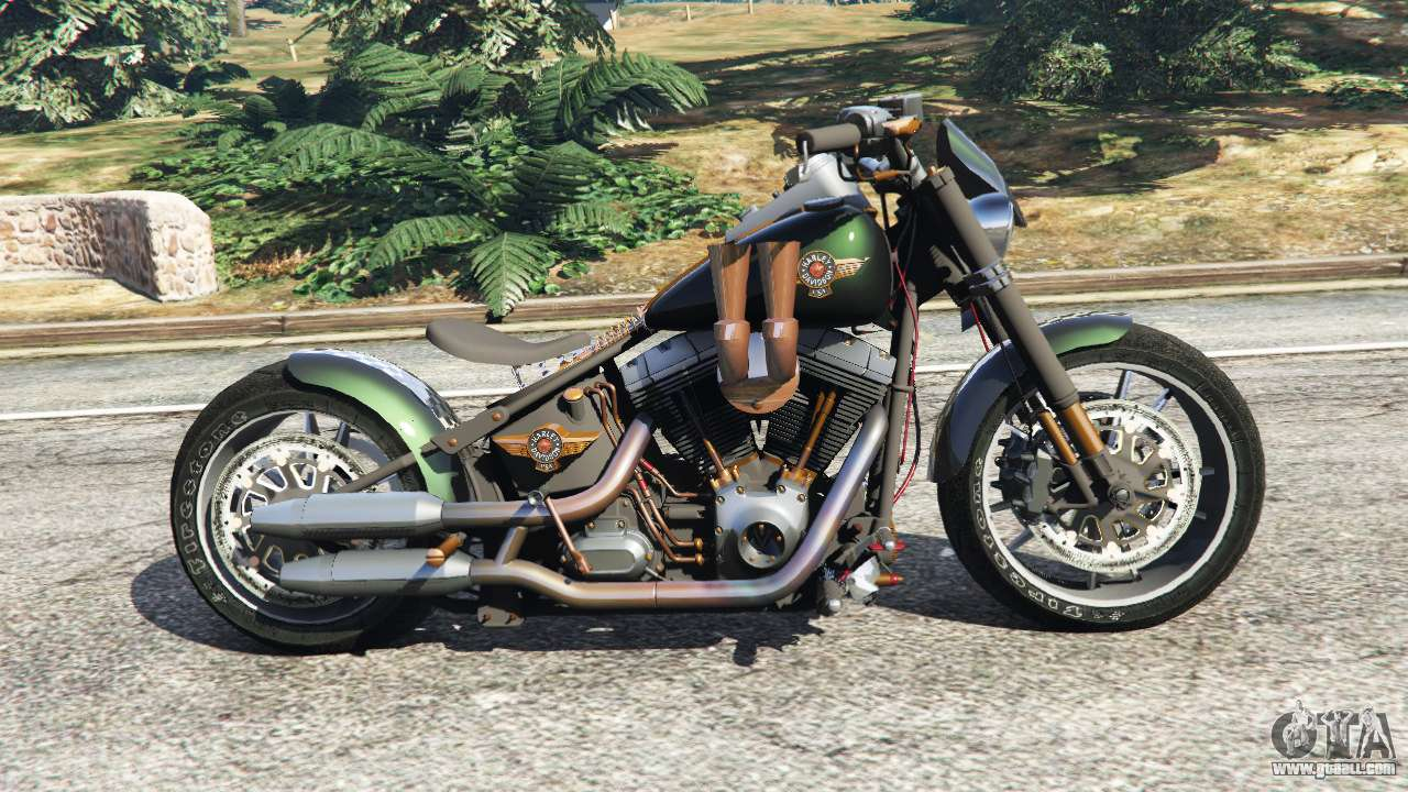 harley davidson fat boy lo racing bobber v1 1 for gta 5. Black Bedroom Furniture Sets. Home Design Ideas