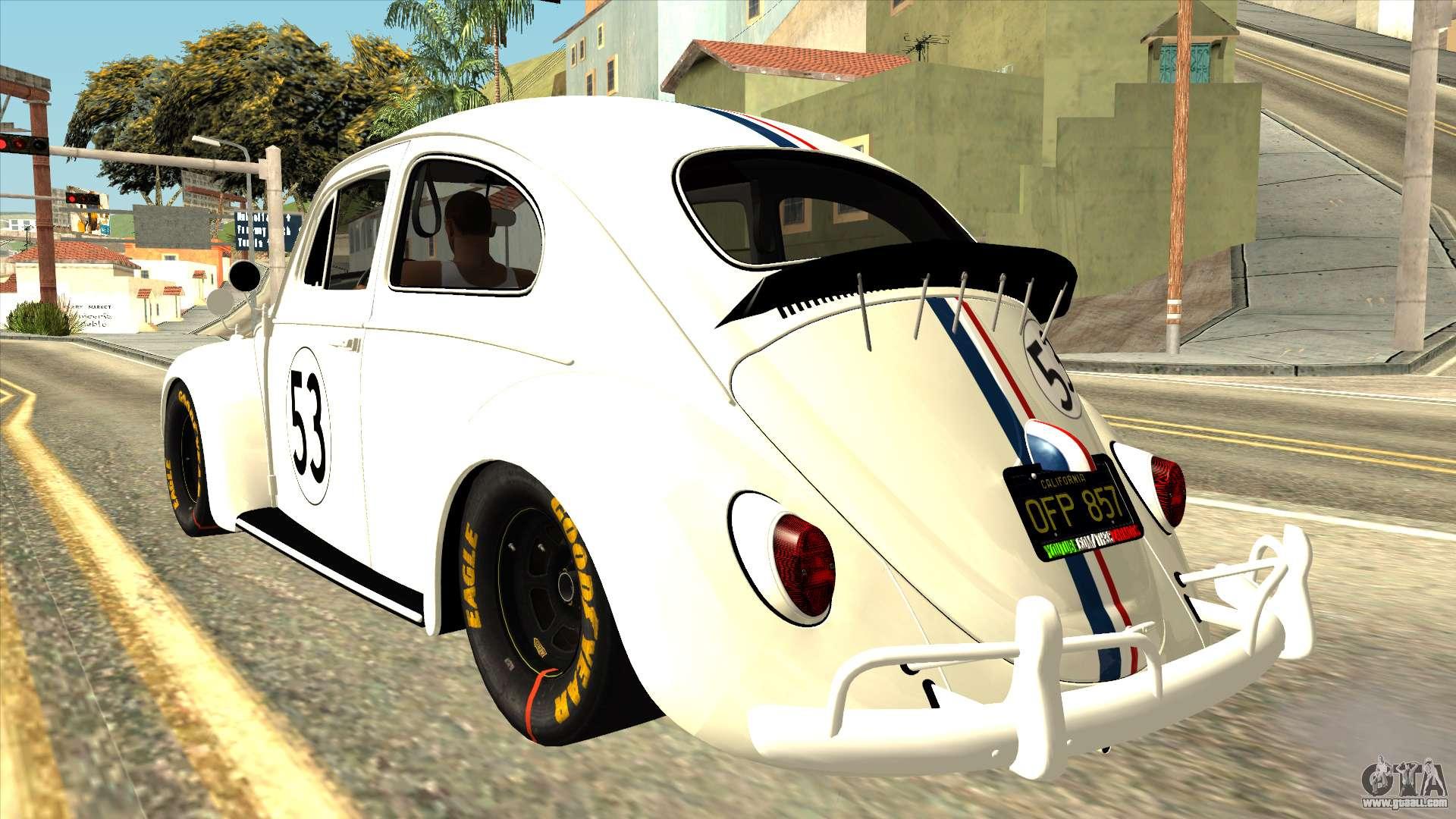 Volkswagen Beetle Herbie Fully Loaded for GTA San Andreas