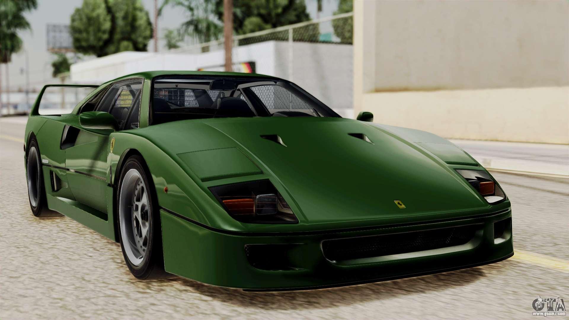 Ferrari f40 1987 for gta san andreas ferrari f40 1987 with up without bonnet ivf vanachro Choice Image