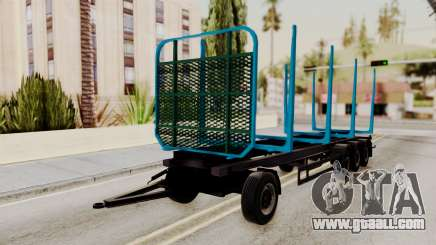 Wood Transport Trailer from ETS 2 for GTA San Andreas