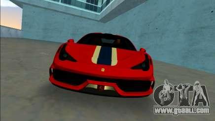 Ferrari 458 Speciale for GTA Vice City