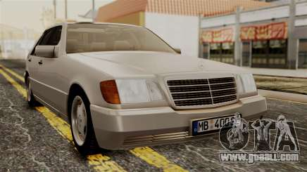 Mercedes-Benz W140 400SE 1992 for GTA San Andreas