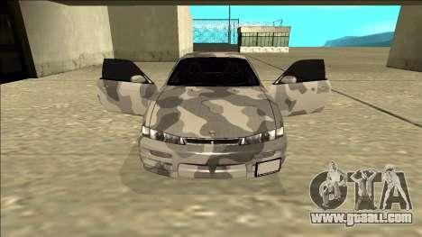 Nissan Silvia S14 Army Drift for GTA San Andreas inner view