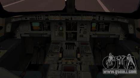 Airbus 350-900XWB Qatar Launch Customer for GTA San Andreas back view
