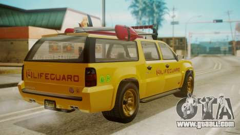 GTA 5 Declasse Granger Lifeguard for GTA San Andreas left view