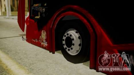 Bus Iron Man for GTA San Andreas back left view