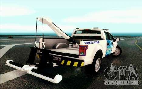 Ford F150 2015 Towtruck for GTA San Andreas back left view