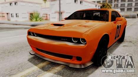 Dodge Challenger SRT Hellcat 2015 HQLM for GTA San Andreas wheels