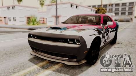 Dodge Challenger SRT Hellcat 2015 HQLM PJ for GTA San Andreas inner view