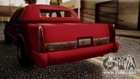 Stretch Sedan for GTA San Andreas back left view