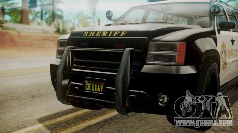 GTA 5 Declasse Granger Sheriff SUV IVF for GTA San Andreas back view