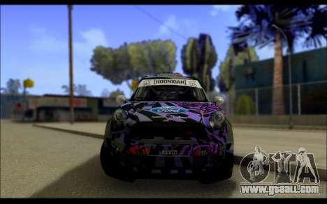 Mini Cooper Gymkhana 6 with Drift Handling for GTA San Andreas inner view
